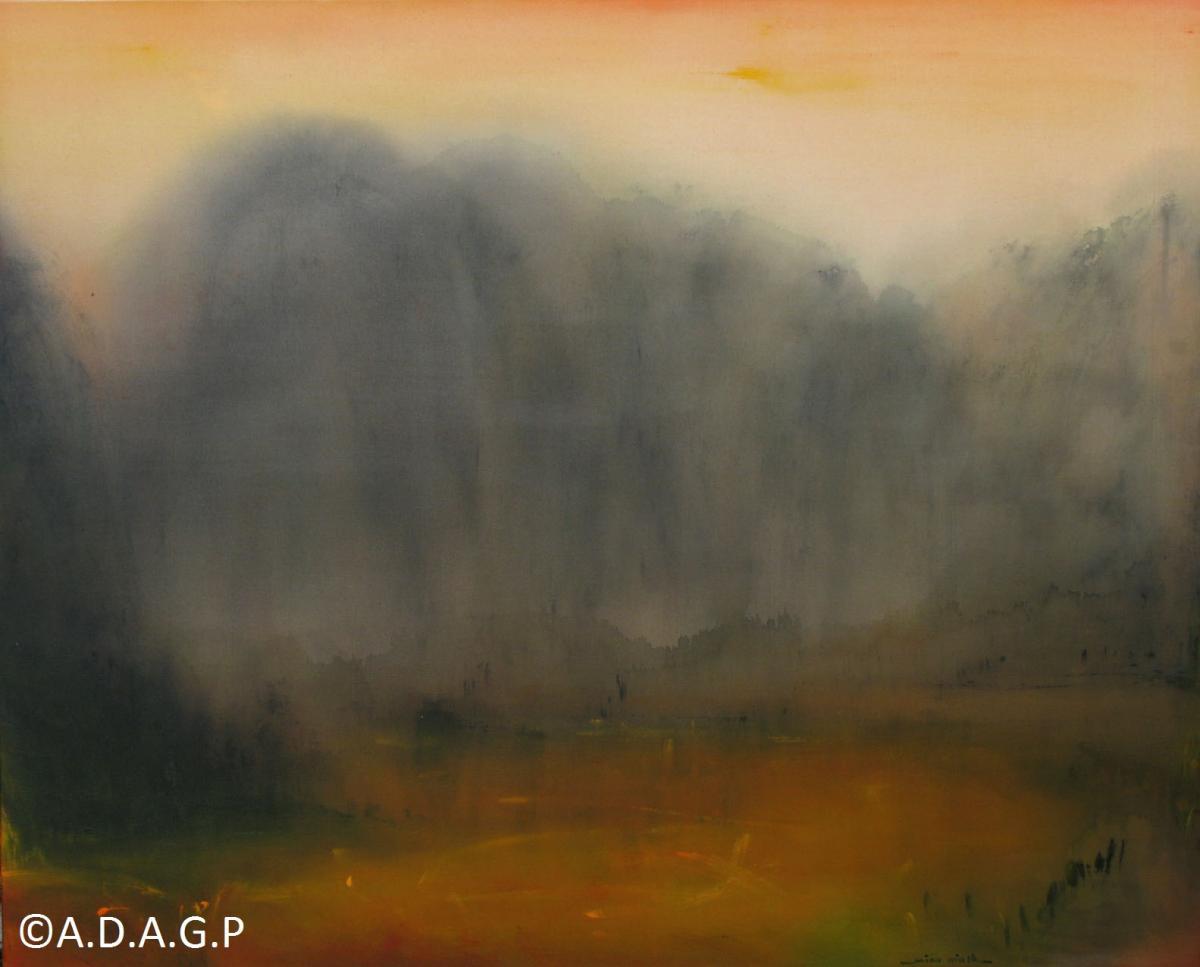 Rays of morning, acrylic on canvas, 130x162 cm, 2010