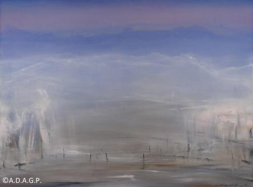 Impression des Alpes N°08-03-16, acrylic on canvas, 97x130cm, 2016