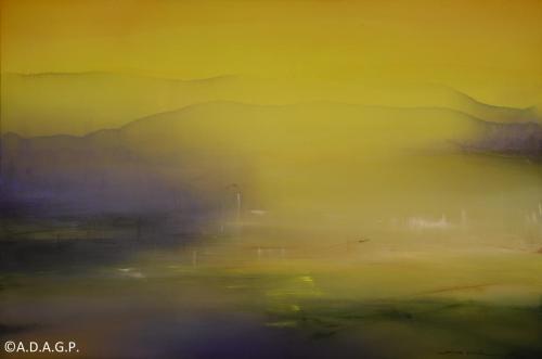 Composition N°12-04-17, acrylic on canvas, 130x195cm, 2017