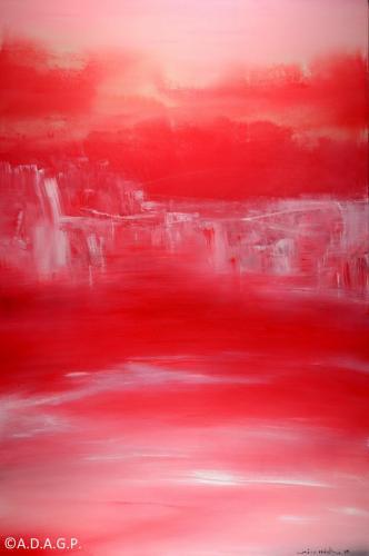 Composition N°20-01-15, acrylic on canvas, 195x130cm, 2015