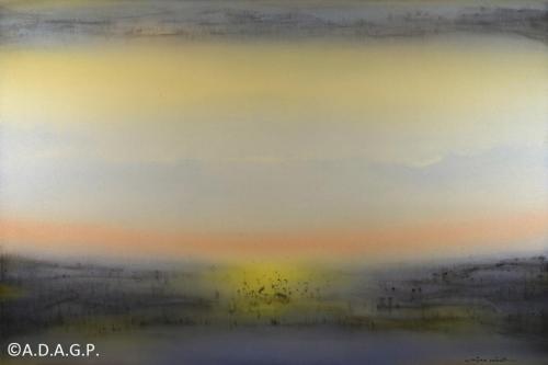 Composition N°12-8-13, acrylic on canvas, 130x195cm, 2013